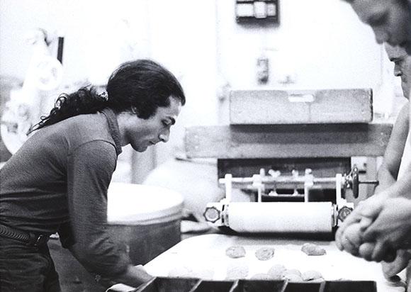 Portrait of Miralda, preparing bread in a bakery