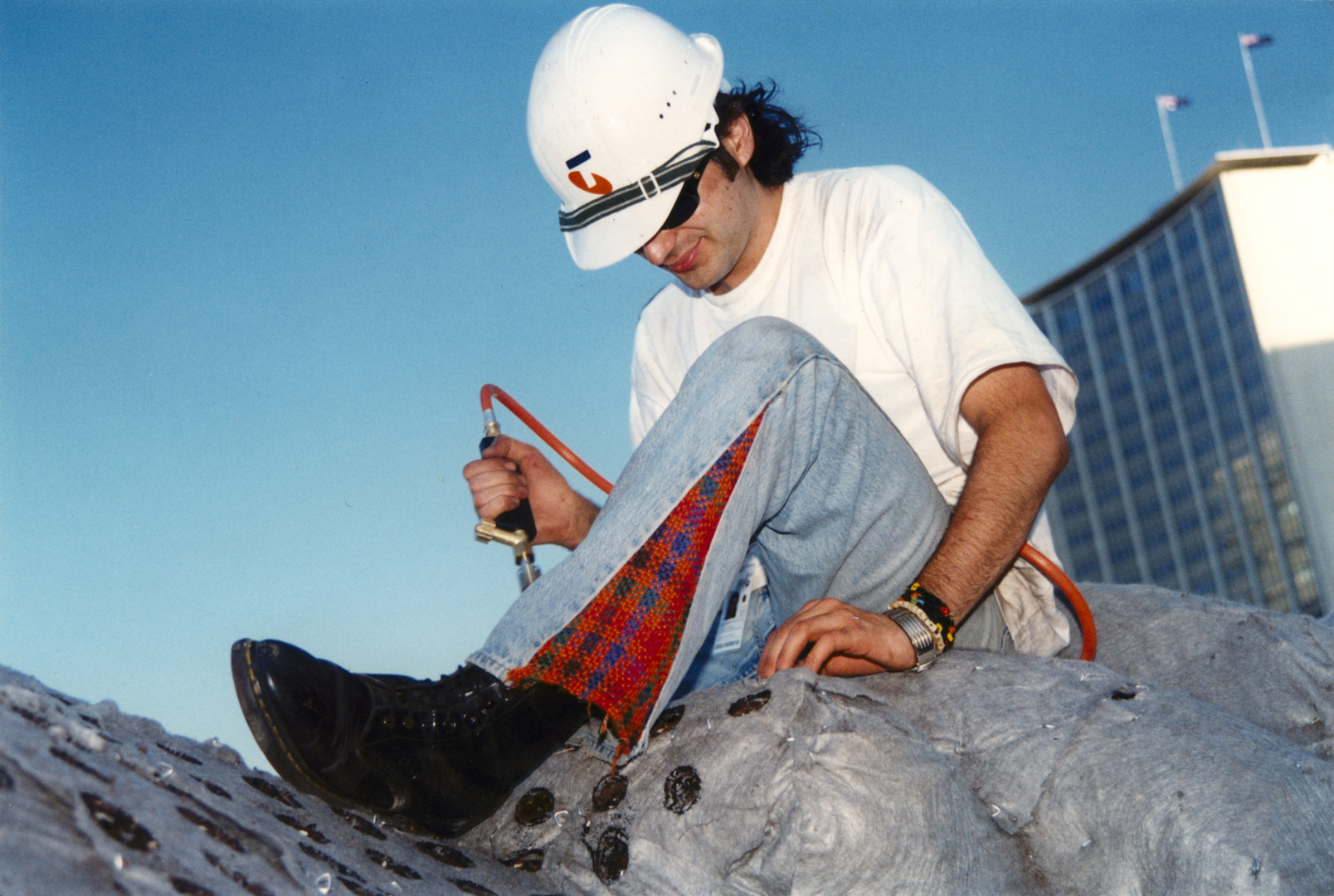 LOVE, JOY AND AN AUTOGRAPHED HARD HAT