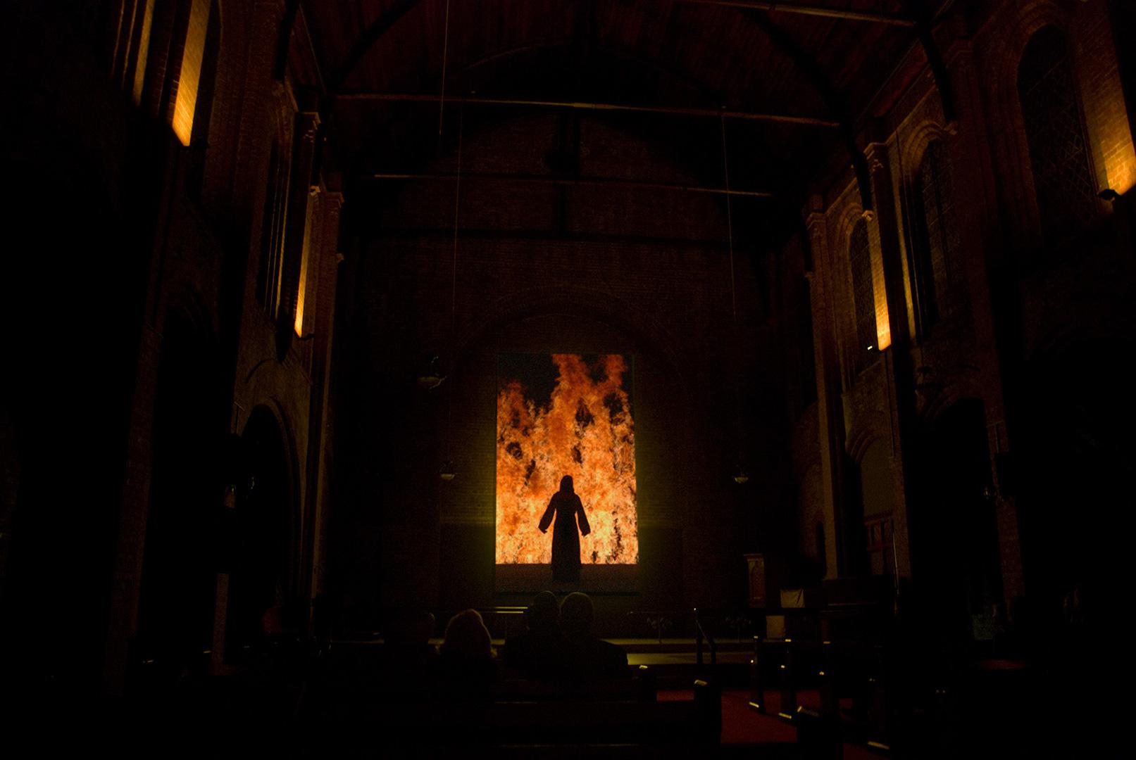 VIDEO ART IN A CHURCH